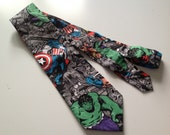 Ready to ship - Superhero Ties - Men's Necktie avengers marvel comic