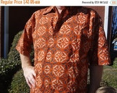 VALENTINES SALE Ethnic Men's Handmade Indian Cotton Short Sleeved Button Down Pocket Shirt - Saber G754