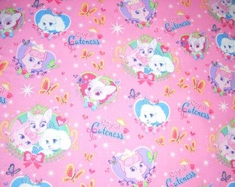 "Palace Pets - Royal Cuteness - Disney cotton fabric  -  44"" wide - sold by the yard"