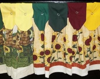Hanging Kitchen Towels -  Sunflowers - Birdhouses