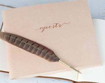 Custom Photo Guestbook - Classic Leather Guest Book