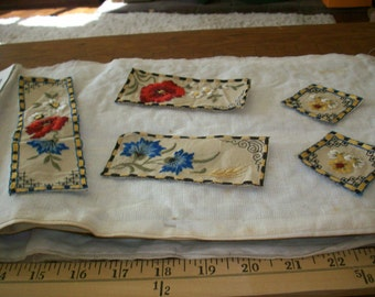 Antique embroidered appliqué Alice in Wonderland arts and crafts period