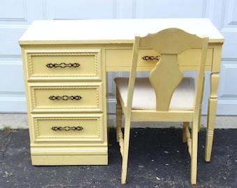 Vintage French Provincial Desk Bedroom Office Furniture Set Yellow CreamVintage french provincial furniture   Etsy. French Provincial Bedroom Set Value. Home Design Ideas