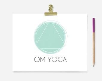 Pre-made Logo - Yoga Wellness Logo - Geometric Logo - Minimal Logo - Custom Business Logo Design