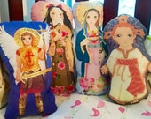 Saint Fabric Doll KIT Jesus Immaculate Heart St. Therese Lisieux or St. Michael- Catholic Saint Doll Softie