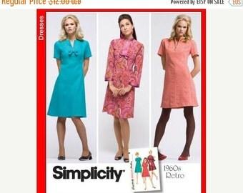 ON SALE SZ 6 thru 14 - Misses' A-Line Dress in Three Variations - Vintage 1960's Reissued Pattern - Simplicity 3559