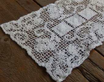 Vintage Doily Handmade Crochet Romantic Cottage Chic Home and Kitchen Dining Decor