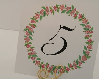 Wedding Table Number Simple and Sweet Reception Decor Part of my Rustic Chic Wedding Collection