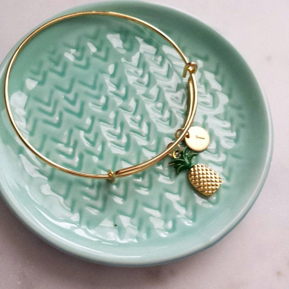 Personalized Pineapple Bangle