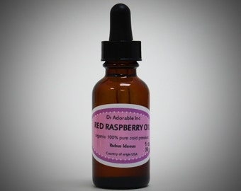 1 Oz Red Raspberry Seed Oil 100% Pure & Organic Cold Pressed