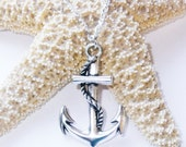 Men's Anchor Necklace - Men's Silver Necklace - Mens Jewelry - Necklaces For Men - Gift for Him - Jewelry for Men