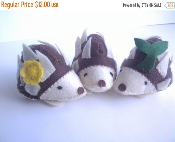 ON SALE Hedgehog or porcupine small stuffed animal toy