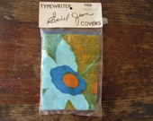 60s floral typewriter dust cover - NOS - dead stock - size 11