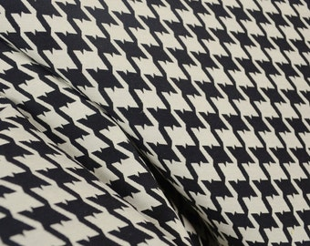 Black White Houndstooth Upholstery Fabric