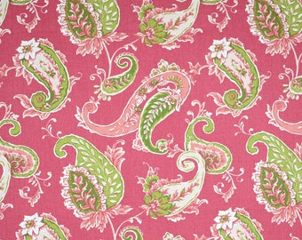 PR1061 Beacon Hill Blossom Pink Green Floral Paisley Fabric