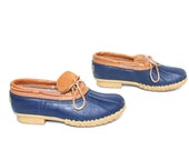 mens size 9.5 L.L.BEAN RAIN 80's boat shoes made in MAINE