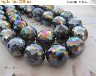20% OFF ON SALE Smoky Quartz Fire Polished Round 16mm Beads, 4 pcs, Gemstone Beads