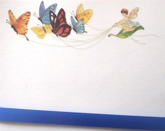 Butterfly Fairy Stationery, Vintage Writing Paper Set (C5)