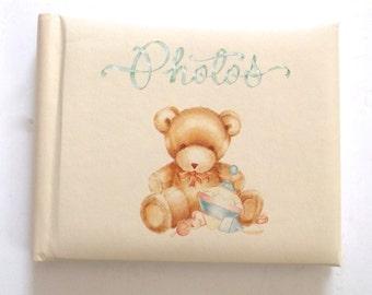 Teddy Bear Brag Book, Vintage Baby Themed Little Photo Album from Hallmark Cards (A4)