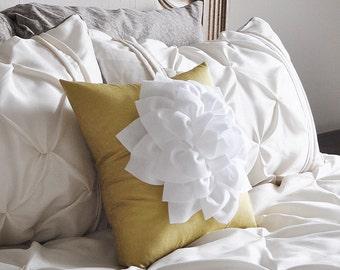 Gold Pillow, Dorm Pillow, Gold Metallic Pillow Throw Pillow Cover, Glitz Gold Pillows, Dorm Decor, Flower Pillow, Baby Nursery Bedding
