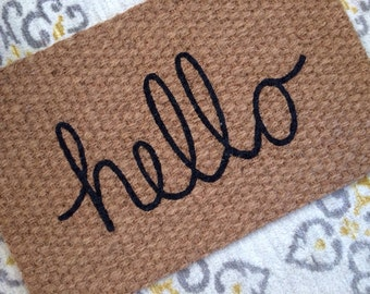 Hello Welcome Mat! Fun doormats for fun doorsteps!