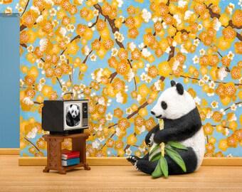 Panda diorama art print: Animal Planet