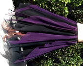 Ameynra gothic fashion skirt black-purple chiffon for belly dance, show, carnival. Size S. New