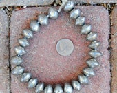 African Coin Silver Beads (12x19mm)