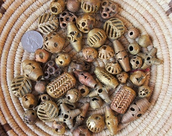 African Mixed Tabular Brass 1/2 Pound
