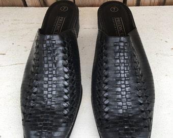 Predictions woven Leather Latigo slide shoes UNDER 20