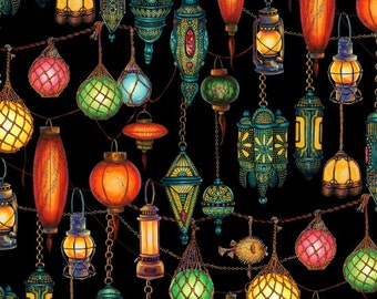 Colorful Lanterns from Princess on a Pea Around the World from Elizabeth's Studio - Full or Half Yard