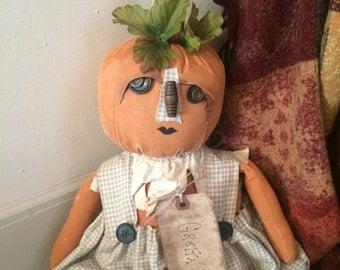 Primitive Finished Pumpkin Doll