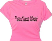 Once a Cancer Patient,Women's Breast Cancer Walk T-Shirt, Breast Cancer Recovery Tee shirt, Walk for a Cure March Event Saying Boob Shirt