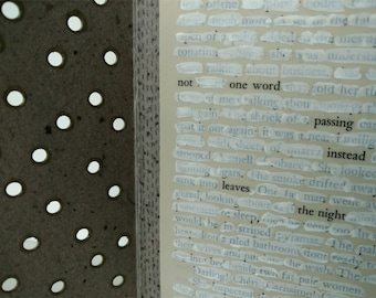 Handmade Paper Found Text Poem Altar Piece / The Edge of Meaning
