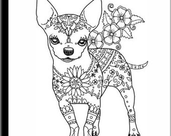 Art of Chihuahua Coloring Book Volume No. 1 - Physical Book