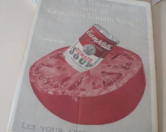 Vintage  1920s Campbell's Tomato Soup Ad. 12 Cents a Can.