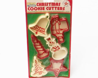 Christmas Cookie Cutters 1970 Wecolite Set of Six