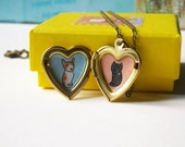 Pet Portrait Necklace - Custom Pet Pendant - Heart Locket Necklace - Dog Portrait - Cat Portrait - Personalized Pet Jewelry