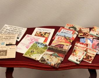 Dollhouse Miniature Magazine Newspaper Lot