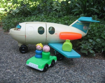 Vintage Fisher Price Airplane with Accessories