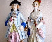 Vintage French Porcelain Figurines Porcelain Couple  French Court Figurines  Wedding Cake Topper French Wedding Romantic French  Couple