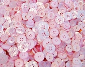 100 Pink Buttons,  Light Pink Buttons Assorted sizes, Sewing buttons, Craft buttons, Grab Bag - Crafting -  Jewelry (683)