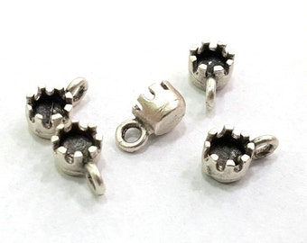 5 Pcs Antique Silver Plated Brass Connector ,Findings G5658