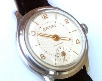 25 OFF SALE Vintage wrist watch Vostok  ladies watch womens watch, small watch
