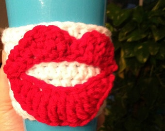 Hot Lips Coffee Cozy