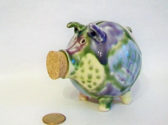 handmade piggy bank patchwork piggy bank by suzannespotteryfarm. Black Bedroom Furniture Sets. Home Design Ideas