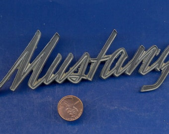 Original Vintage 1969 Mustang Emblem