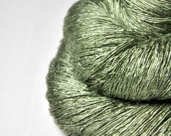 Rotten pistachio cream macaron - Tussah Silk Lace Yarn