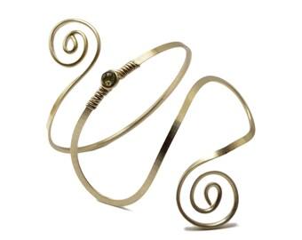 Boho Arm Bracelet, Spiral Arm Band, Wire Arm Cuff, Upper Arm Bangle, Upper Arm Band, Silver Wire Armlet, Upper Cuff Bracelet