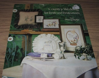 Vintage 1981 COUNTRY WEDDING Bride Bridesmaids Pro-Graphs Cross Stitch Pattern